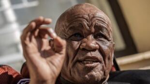 L'ex-Premier ministre vainqueur des législatives, Thomas Thabane, le 31 mai 2017 à Maseru.