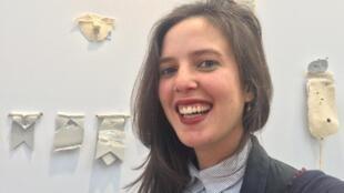 Sara Bichão, artista plástica portuguesa. Art Paris, Grand Palais, Paris. 3 de Abril de 2019.