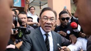 Anwar Ibrahim après un meeting à Petaling Jaya, le 24 février 2020.