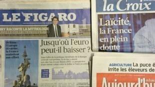 Primeiras páginas diários franceses 12/03/2015