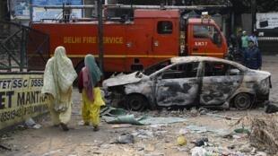 O noroeste de Nova Deli tem sido palco de violências inter-religiosoas nos últimos quatro dias.