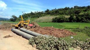 中缅天然气管道缅甸段