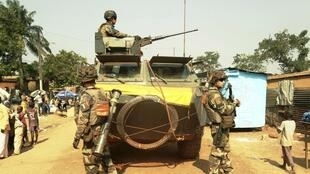 French soldiers in Bangui, 17 December 2013.