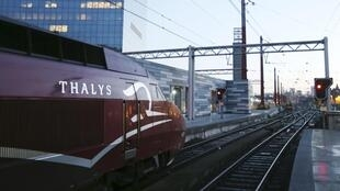 A Thalys train at Gare du Midi in Brussels