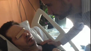 Frenchman Vincent Lambert in hospital in Reims.