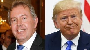 Cựu đại sứ Anh tại Hoa Kỳ Kim Darroch (t) không ngần ngại phê phán chính sách Iran của tổng thống Mỹ Donald Trump (p).éaire iranien.