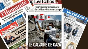 Capa dos jornais franceses, Libération, Les Echos, L'Humanité, Le Figaro e Aujourd'hui en France desta terça-feira, 22 de julho de 2014.