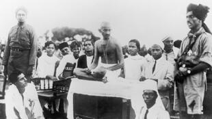 Mahatma Gandhi à Madras, vers 1915.