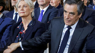 François Fillon and wife Penelope, after publication of corruption allegations, in January, 2017.