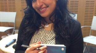 Rana Ahmad author of 'Here women don't dream', Paris