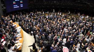 Câmara dos representantes em Brasilia,a  2 de Agosto de 2017.