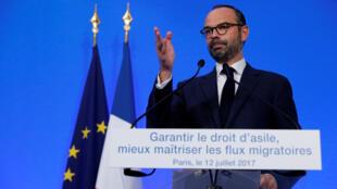 Эдуар Филипп подчеркнул, что Франция будет стремиться принимать «таланты, которые могут способствовать процветанию нашей страны», 12 июля 2017.