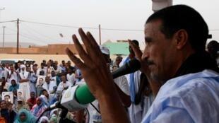 L'opposant et candidat Mohamed Ould Maouloud en campagne à Atar, le 10 juin 2019, avant la présidentielle en Mauritanie.