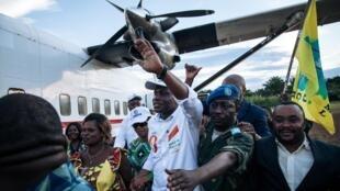 Le candidat à la présidentielle en RDC, Martin Fayulu lors de son arrivée à Beni, le 5 décembre 2018.