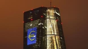 Ngân hàng Trung ương Châu Âu (ECB) tại Frankfurt, Đức. Ảnh 12/03/ 2016.