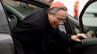 Le cardinal Maradiaga photographié en mars 2013 au Vatican.
