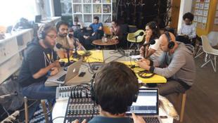 Le plateau de l'émission NoCiné de Binge Audio.