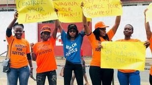Protests against rates of rape and violence against women and girls