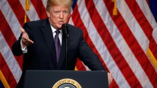 Tổng thống Mỹ Donald Trump nêu đích danh Trung Quốc và Nga là đối thủ chính trong diễn văn về an ninh quốc gia, ngày 18/12/2017.
