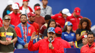 Venezuelan President Nicolas Maduro speaks at a government rally, his first public appearance in 6 months, in Caracas, 02 February 2019