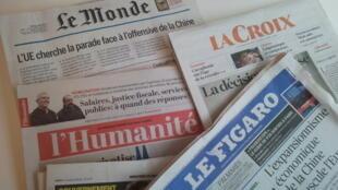 Primeiras páginas dos jornais franceses de 20 de março de 2019