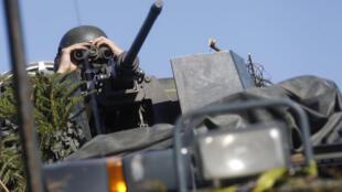 Эстонский солдат во время учений НАТО