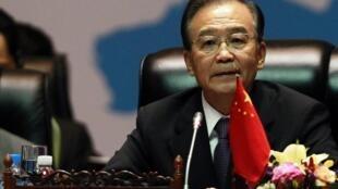 Thủ tướng Ôn Gia Bảo tại diễn đàn ASEM 19 tại Lào ngày 5/11/2012.