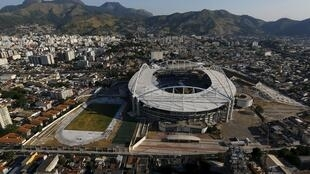 Vista aérea del Estadio Olímpico de Rio de Janeiro, el 25 de abril de 2016.