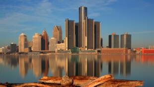 Vista de la ciudad de Detroit, en Estados Unidos.