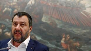 Le vice-président du Conseil italien et ministre de l'Intérieur Matteo Salvini.