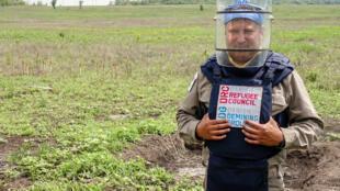 Alexey Shaidenkov from the Danish Demining Group