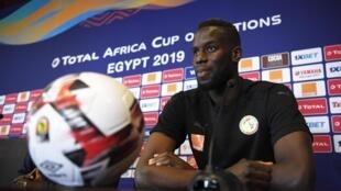 Le Sénégalais Salif Sané avant le quart de finale Sénégal-Bénin à la CAN 2019.