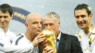 Didier Deschamps with the world cup