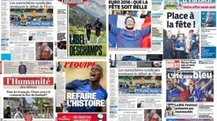 O início da Eurocopa é o destaque de todos os jornais franceses desta sexta-feira, 10 de junho.