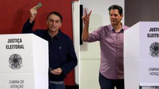 Na corrida à presidência da República, a primeira pesquisa Datafolha do segundo turno, divulgada nesta terça-feira à noite, mostrou o Bolsonaro com 58% dos votos válidos e Fernando Haddad com 42%. .
