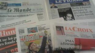 Primeiras páginas dos jornais franceses de 17 de janeiro de 2020