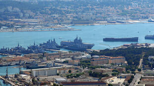 The naval base of Toulon