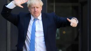 Ông Boris Johnson đến trụ sở đảng bảo thủ tại Luân Đôn hôm 23/07/2019.