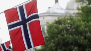 Bandera noruega en Oslo