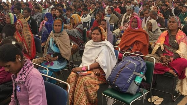 Women attendding the dignity march