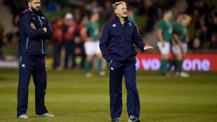Joe Schmidt (right) has been Ireland head coach since 2013. Andy Farrell (left) will replace him in 2019.