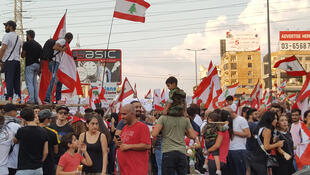 La rue en ébullition à Beyrouth au Liban.