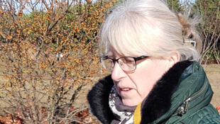 Sophie Besnard, avicultrice bio à Mandres-les-Roses, dans le Val-de-Marne.
