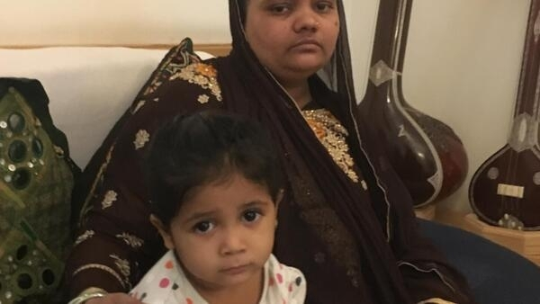 Bilkis Bano with her child Saleha
