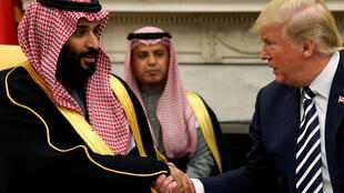 Shugaban Amurka Donald Trump tare da Yarima mai jiran gado na Saudiya Muhammad bin Salman