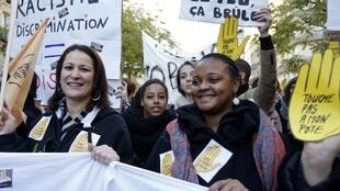 The March for Equality and Against Racism in Paris on 30 November, 2013