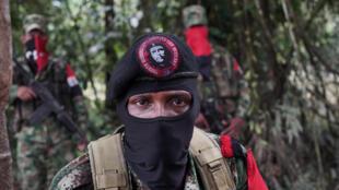 Yerson, comandante do Exército de libertação nacional, na selva do noroeste da Colômbia, a 30 de Agosto de 2017.
