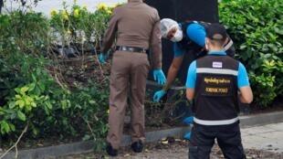Các nhà điều tra của cảnh sát tại hiện trường một vụ nổ tại Bangkok, Thái Lan, ngày 02/08/2019.