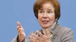 La militante anti-nazie Beate Klarsfeld en 2012 à Berlin.
