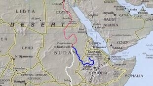 The route of the River Nile